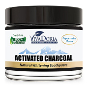 Viva Doria Activated Charcoal Whitening Toothpaste - Peppermint