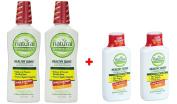 Natural Dentist Healthy Gums Peppermint Twist Antigingivitis Rinse, 500ml PK/2 + 2 FREE Travel Size Bottle