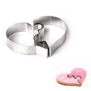 WJSYSHOP Puzzle Heart Cookie Cutter - Stainless Steel