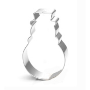 WJSYSHOP Christmas Snowman Cookie Cutter - Stainless Steel