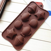 8 Chocolate Silicone Pudding, Jelly Cake Mousse Mould Ice Cube Tray Kitchen Baking Tools