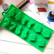 Christmas Shape Silicone Pudding, Jelly Cake Mousse Mould Ice Cube Tray Kitchen Baking Tools