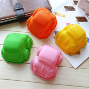 4Pcs Silicone Car Pudding, Jelly Cake Mousse Mould Ice Cube Tray Kitchen Baking Tools