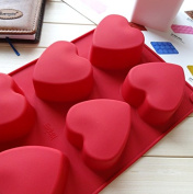 Silicone Love Heart Pudding, Jelly Cake Mousse Mould Ice Cube Tray Kitchen Baking Tools