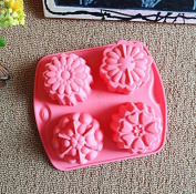 Silicone Flower Pudding, Jelly Cake Mousse Mould Ice Cube Tray Kitchen Baking Tools