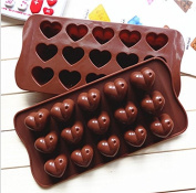15 Chocolate Love Silicone Pudding, Jelly Cake Mousse Mould Ice Cube Tray Kitchen Baking Tools
