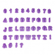 LINGERY 40pcs/Set Icing Cutter Mould Mould Alphabet Number Letter Fondant Cake Decorating
