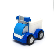 Car Building Blocks for Baby . old - Police truck - Creative Baby Toys