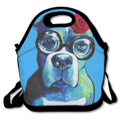 Boxer Dog Dog Lover Gift Lunch Tote Insulated Reusable Picnic Lunch Bags Boxes For Men Women Adults Kids Toddler Nurses