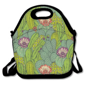 Cactus Fashion Cute Lunch Bag Lunch Backpack Casual Lunch Box Lunchboxes Lunch Pouch Durable Lunch Tote For Kids And Adults