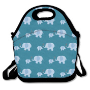 Elephant Mom And Baby Fashion Cute Lunch Bag Lunch Backpack Casual Lunch Box Lunchboxes Lunch Pouch Durable Lunch Tote For Kids And Adults