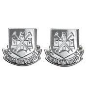 Official Football Team Chrome Cufflinks West Ham United