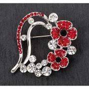 Equilibrium Poppy Heart Brooch