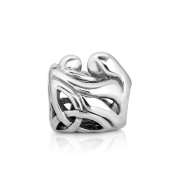 925 Sterling Silver Celtic Mother and Daughter Family Bead Charm Fits Pandora Bracelet