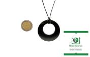 Double Circle Shungite Pendant Necklace Natural Stone Chakra Crystal Healing Energy Karelia Russia
