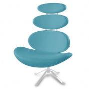 Pebble Modern Swivel Occasional Chair - Teal