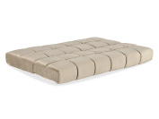 Simmons Beautyrest Queen 20cm Pannel Quilted Pocketed Coil Innerspring Futon in Biscuit