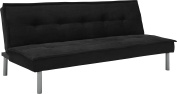 DHP Kent Convertible Microfiber Couch Bed with Sturdy Metal Legs, 270kg, Small - Black
