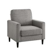 Dorel Living Kaci Sectional Upholster, Grey