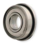 DAYTON 1ZEL4 Mini Ball Bearing, Flanged, Bore 0.8cm