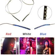Ecosin Fashion LED Eyelashes Eyelid False Eyelashes For Fashion Icon Saloon Pub Club Bar Party