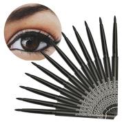 Creazy 12PCS Makeup Black Eyeliner Waterproof Liquid Beauty Comestics Eye Liner Pencil