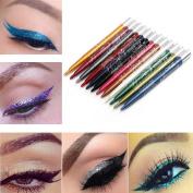 Lookatool 12 Colours Long-lasting Eye Shadow Eyeliner Lip Liner Pen Makeup Beauty