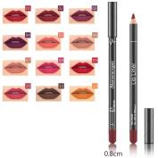 Hunputa 12PCS/Set Fashion Trendy Colours Lip Liner Pencil Waterproof Long Lasting Matte Lipstick Makeup Lip Gloss