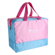isYoung Wet and Dry Bag Baby Nappy Bag - Come with Dry Section, Wet Section, Shoe Section.
