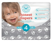 Honest Baby Nappies, Pandas, Size 4, 116 Count