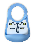 Baby Waterproof Bibs Silicone Bib for Babies and Toddlers with Various Styles Little Pilot
