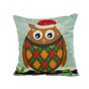 ✿Moseâ . ! Cute Vintage Christmas Jolly Santa Clau Square Pillowcase
