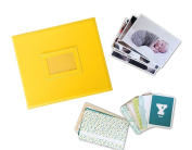 Fotovive Baby is Here First Year Photo Album, Sunflower