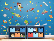 "I-love-Wandtattoo WAS-10019 Wall stickers Kids ""Spaceman"" Sticker Wall Decal Boy Girl"