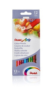 Pentel Arts Colour pencils, Assorted colours, 1 pack of 12 pencils
