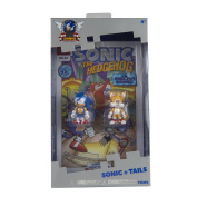 """Sonic the Hedgehog T22055 """"25th Anniversary Classic Sonic and Tails"""" Figures with Collectors Comic Book, 7.6cm"""