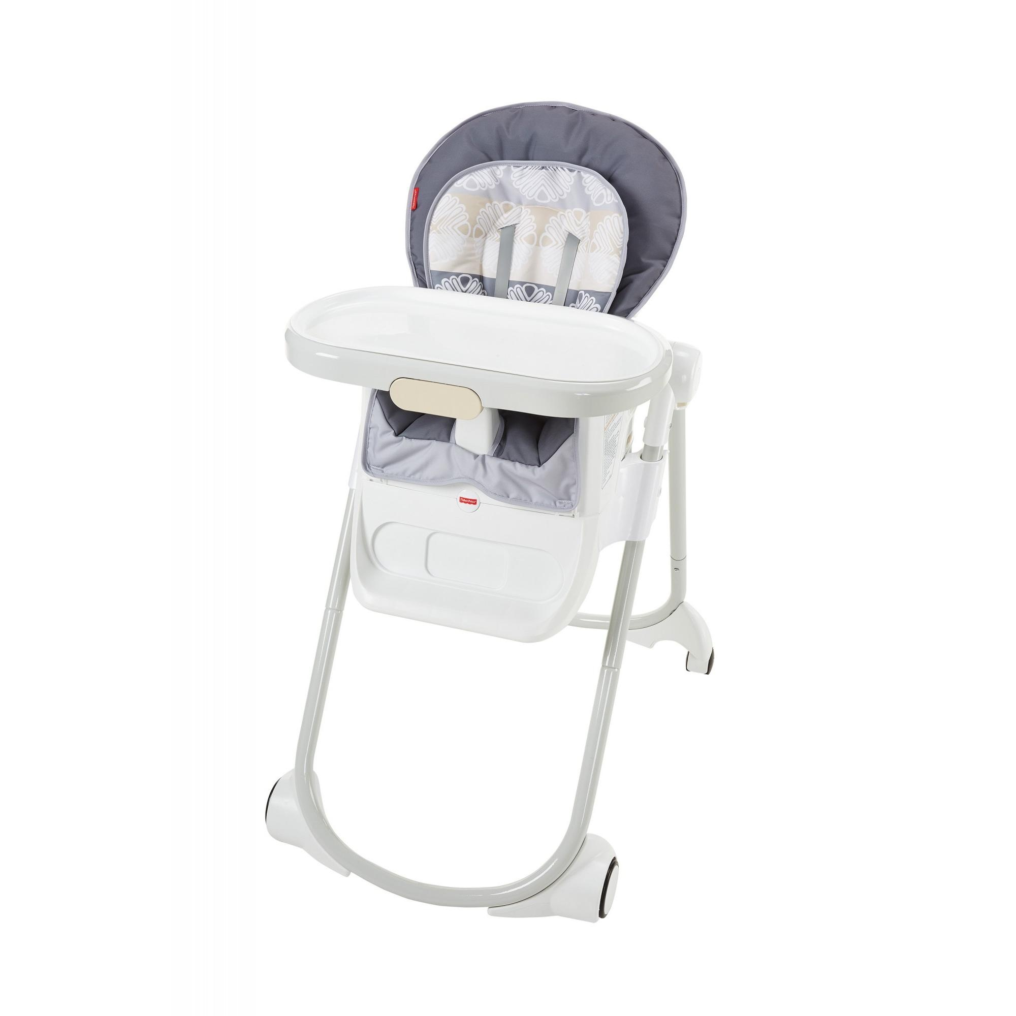 Fisher Price 4 in 1 Total Clean High Chair White Grey e size