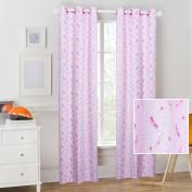 Mainstays Pink Princess Crown Girl's Curtain Panel