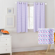 Mainstays Kids Purple Hearts Coordinating Window Curtain