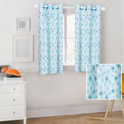 Mainstays Kids Blue Butterfly Floral Coordinating Window Curtain