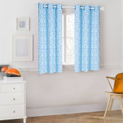 Mainstays Blue Triangles Coordinating Window Curtain