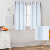 Mainstays Kids Light Blue Floral Coordinating Window Curtain