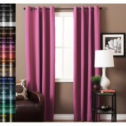 Latitude Run JC Solid Blackout Thermal Grommet Curtain Panels