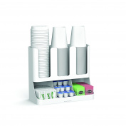 Mind Reader 'Flume' 6 Compartment Condiment & Cups Organiser, White