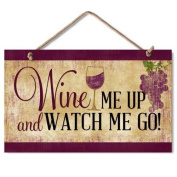 "Highland Graphics ""Wine Me Up"" Wood Kitchen Sign"