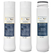 Whirlpool WHER25 & Kenmore UltraFilter 450 / 650 R.O. Pre & Post Filters w/ Membrane SET
