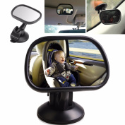 Adjustable Car Safety Easy View Back Seat Suction Mirror Baby Care Rear 8.5cm Shatterproof