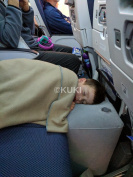 Inflatable Travel Pillow for Leg Rest on Aeroplanes and kids' Bed to Lay Down or Sleep on Long Flights, Grey, By KUKI