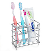HBlife Stainless Steel Bathroom Toothbrush Toothpaste Holder Stand