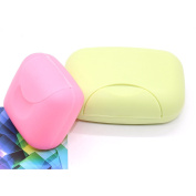 IDS 2PCS Beautiful And Lovely/Cute Portable Home/Outdoor Hiking/Travelling/Camping Candy Colour Soap Container/Case/Box/Holder/Organiser,M/S Size,Green & Pink